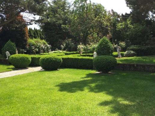 Barockgarten mit Buchs-Parterre